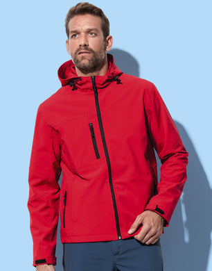 Stedman Herren Jacke Active Softest Shell Hooded Jacke