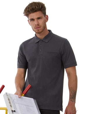 B&C Energy Pro Workwear Pocket Polo Herren T-Shirt