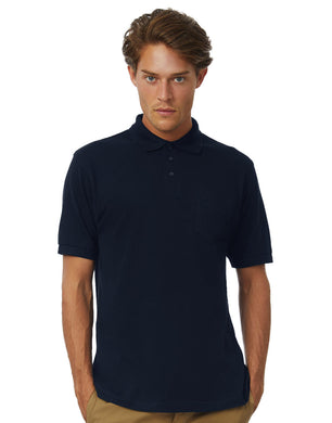 B&C Safran Pocket Polo Herren T-Shirt