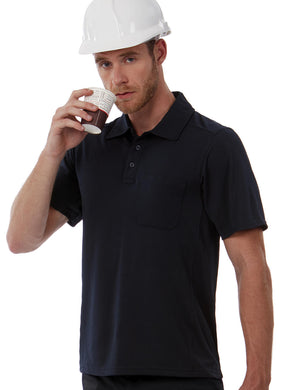 B&C Coolpower Pocket Polo Herren T-Shirt