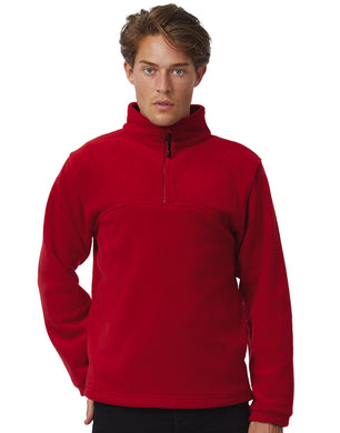 B&C Highlander+ 1/4 Zip Fleece Top Herren Pullover