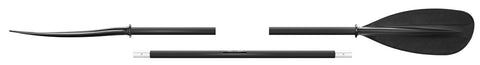 702.3 Asymetric kayak paddle - three parts (black, 220 cm)