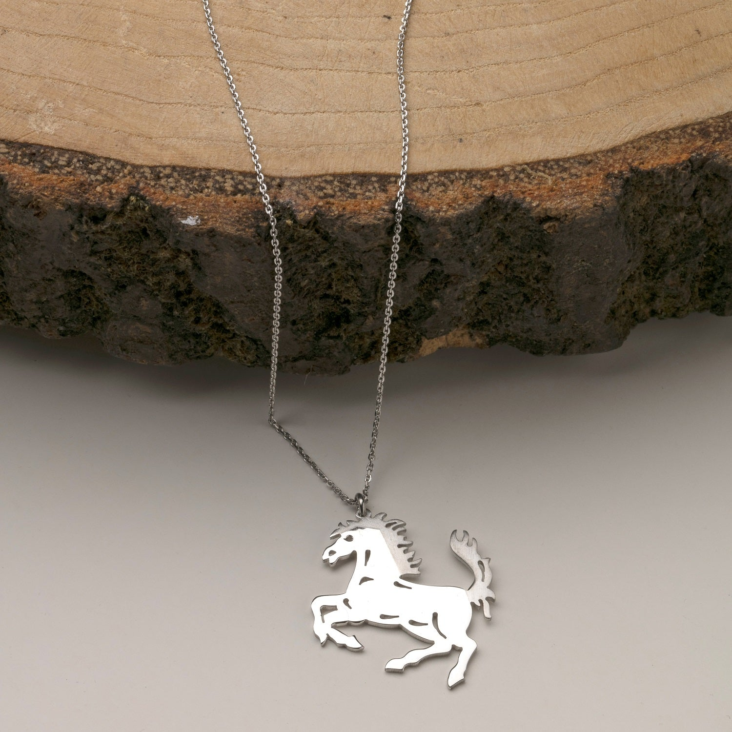 Sterling Silver Horse-Horse Jewelry-Equestrian Jewelry-Gift for Horse Lover-Cowgirl Necklace-Cowboy Jewelry