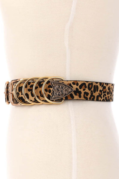 L & S Double Buckle Multi Ring Belt - LS Moda