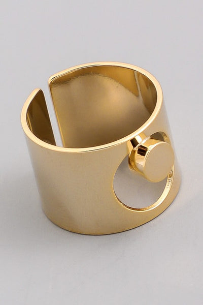 L & S Wide Adjustable Band Cutout Ring - LS Moda