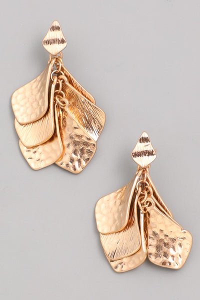 L & S Multi Petal Leaves Dangle Earrings - LS Moda
