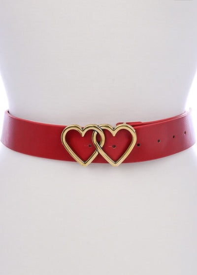 L & S Two Hearts Buckle Belt - LS Moda