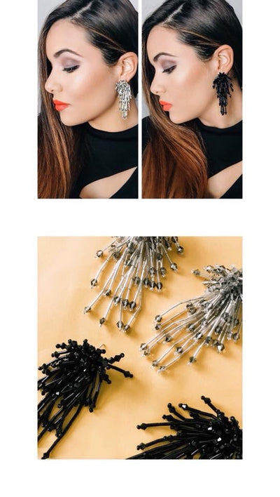 L & S Beaded Firework Earrings - LS Moda