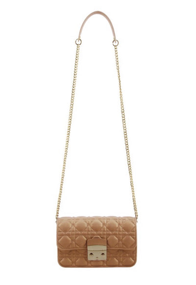 L&S Rose Gold Quilted jelly Cross Body Bag