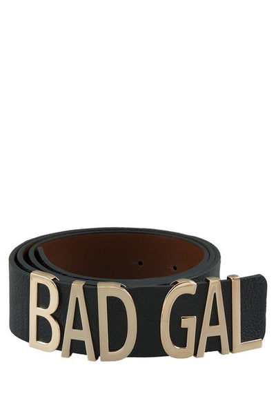 L & S BAD GAL' Faux Leather Belt - LS Moda