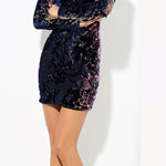 Velvet Sequin Party Dress
