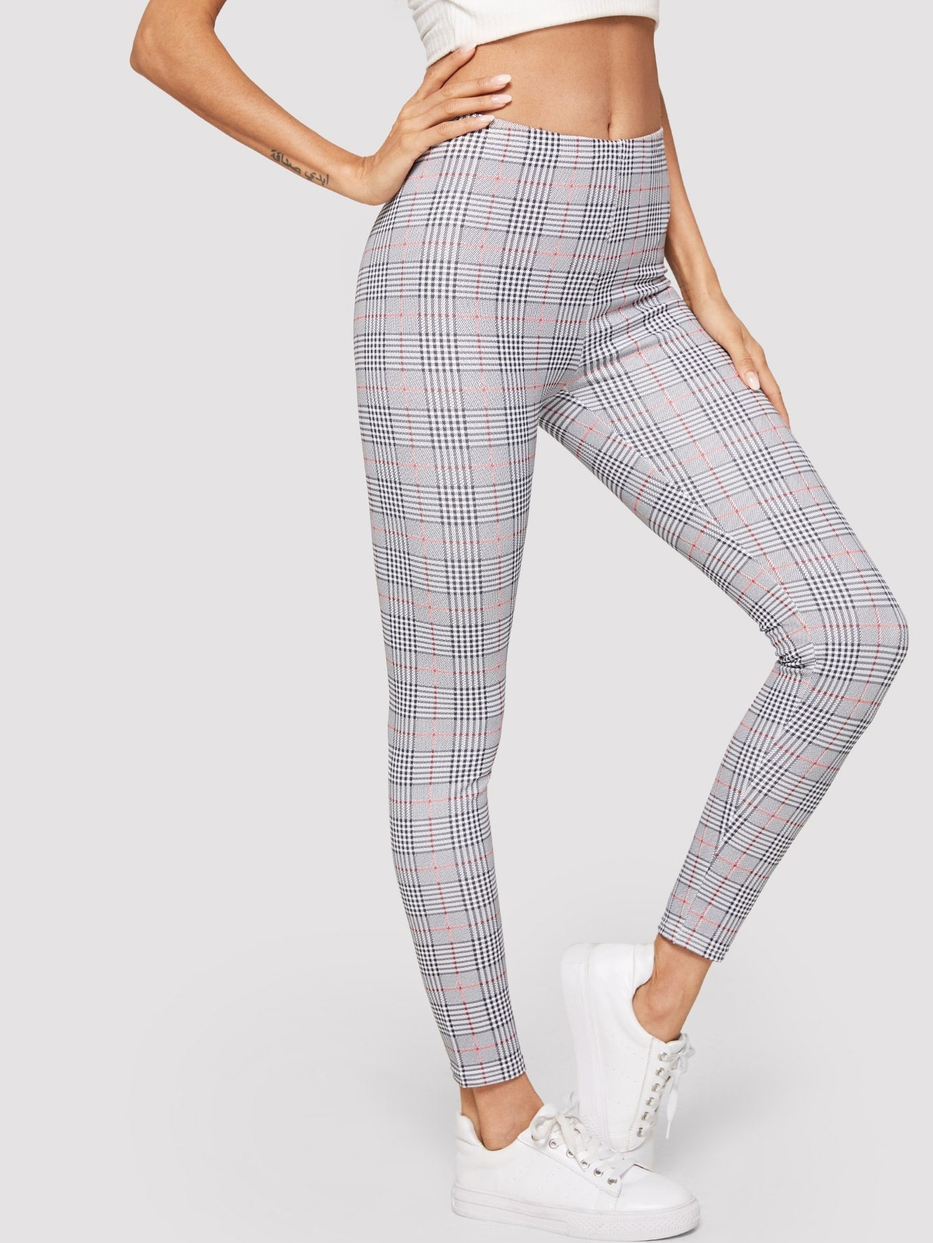 High Rise Plaid Leggings