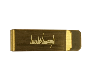 Money Clip with Donald Trump's Autograph Engraved
