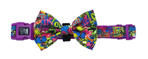 Collar w/Bow tie- KING OF GRAFFITI
