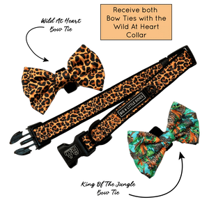 King of  the Jungle Collar w/bow ties