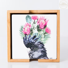 Load image into Gallery viewer, Cockatoo Flower Coasters