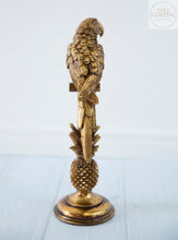 Load image into Gallery viewer, Gold Resin Parrot