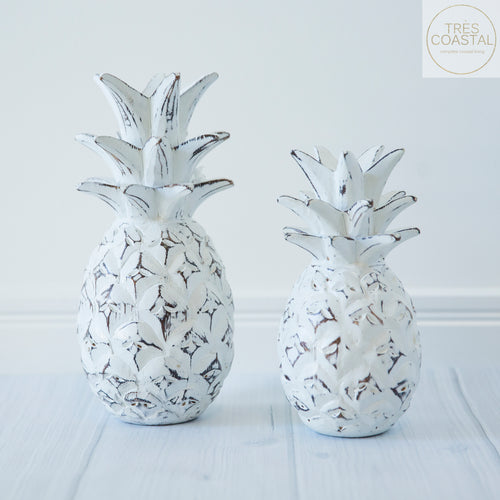 Carved pineapple white