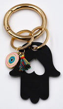 Load image into Gallery viewer, Hamsa Heart Key Ring