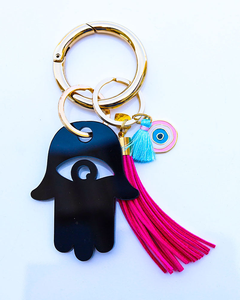 Hamsa Evil Eye Key Ring