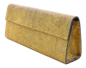 Roxbury Gold Stingray Clutch