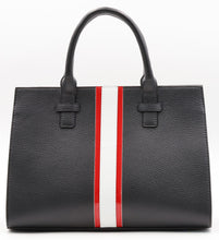 Load image into Gallery viewer, Beverly Bag - Black with Red & White Stripe