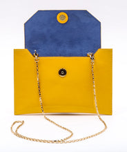 Load image into Gallery viewer, Sunset Cross body in Yellow Patent Leather