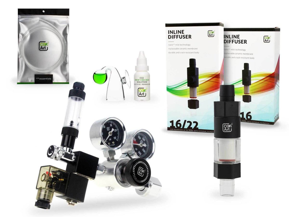 Pro-SE Series Complete Aquarium CO2 System with New Inline CO2 Diffuser