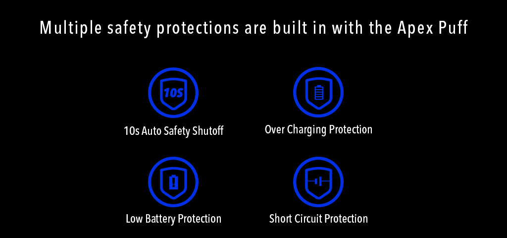 Apex Puff Battery Multiple safety protections