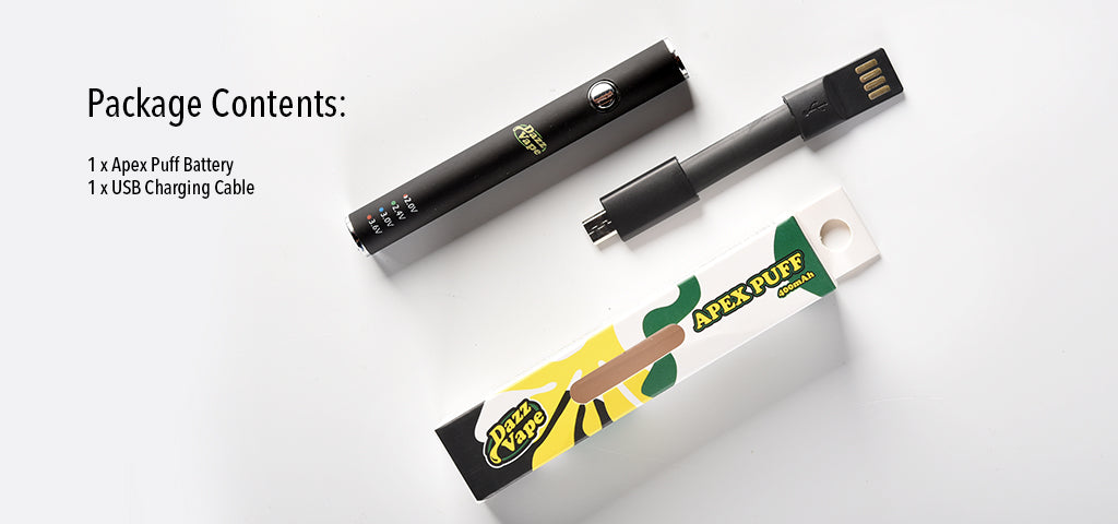 Apex Puff Battery Package Content