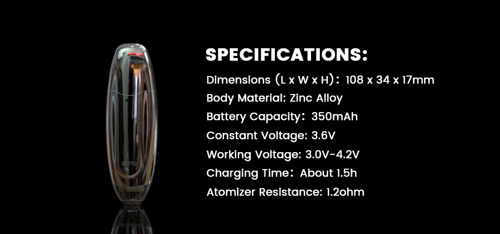 Dazzvape BOTO Concentrate Vaporizer Specifications