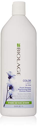BIOLAGE Colorlast Purple Shampoo Neutralizes Brassy & Yellow Tones Paraben-Free For Color Treated Hair,, 33.8 Ounce ()
