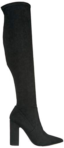 Steve Madden Women's GORGEENA Fashion Boot, Black, 8 M US