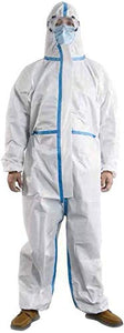 Disposable Coveralls Protective Overalls One Piece Design with Attached Hood Elastic Cuff and Reinforced Seam 1 Pack (Small)