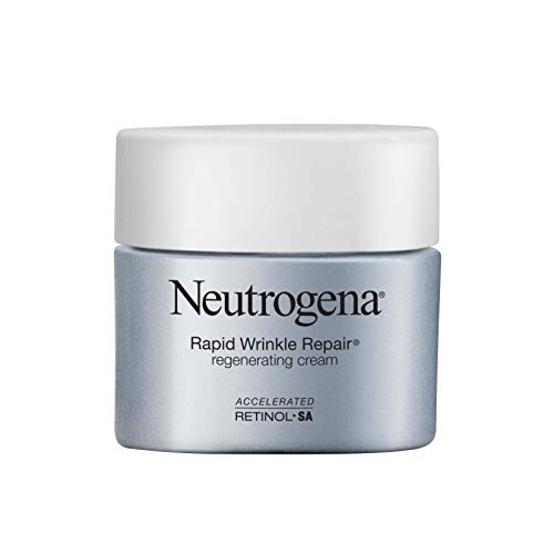 Neutrogena Rapid Wrinkle Repair Retinol Regenerating Anti-Aging Face Cream & Hyaluronic Acid; Anti-Wrinkle Retinol Moisturizer & Neck Cream, with Hyaluronic Acid & Retinol, 1.7 Oz