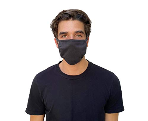 Simpli-Magic 79294 Face Masks, 3-Ply Anti Microbial, Washable and Reusable, Black, 10 Pack