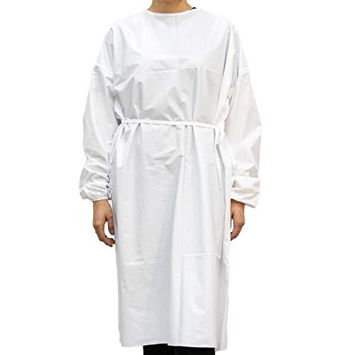 Karalai Washable, Waterproof Isolation Gown - Reusable Up to 10 Washes | Universal Size | 10 per Case (White)