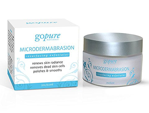 goPure Microdermabrasion Resurfacing Exfoliator - Anti Aging Face Exfoliator Scrub - Helps Improve Skin Texture, Acne Scars, Wrinkles, Blemishes, 2oz
