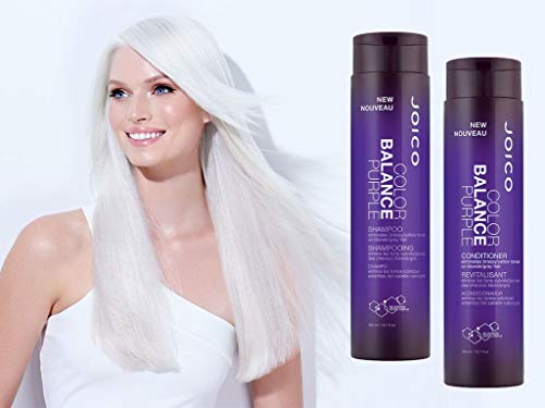 Joico Color Balance Purple Shampoo and Conditioner Set, 10.1 oz