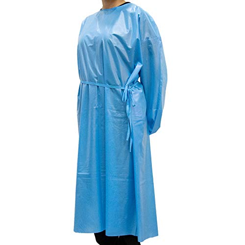 Karalai Washable, Waterproof Isolation Gown - Reusable Up to 10 Washes | Universal Size | 10 per Case (Blue)