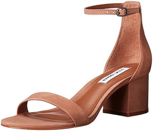 Steve Madden Women's Irenee Dress Sandal, Tan Nubuck, 7.5 M US