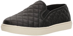 Steve Madden Women's Ecentrcq Slip-On Fashion Sneaker,Black,8 M US