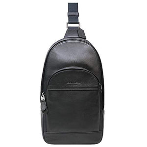 Coach Charles Pack In Smooth Leather Black