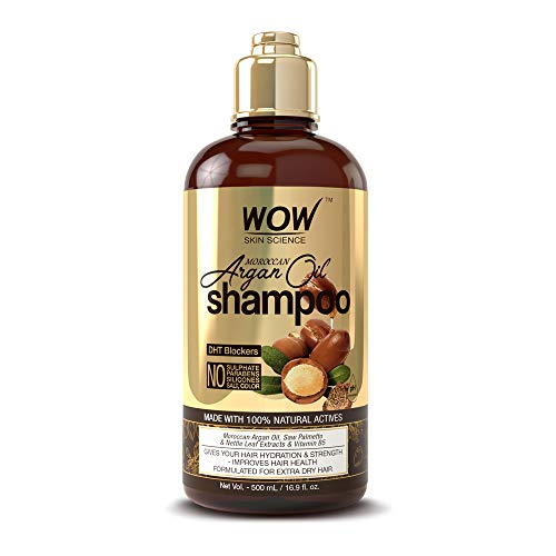 WOW Moroccan Argan Oil Shampoo & Conditioner Set (16.9 Fl Oz Each) - Increase Moisturization, Hydration For Dry, Damaged Hair Repair - No SLS, Parabens or Sulfates - All Hair Types For Men & Women