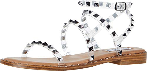 Steve Madden Women's Travel Clear Sandal 6.5 US