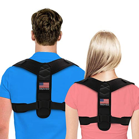 Posture Corrector For Men And Women - Adjustable Upper Back Brace For Clavicle To Support Neck, Back and Shoulder (Universal Fit, U.S. Design Patent)