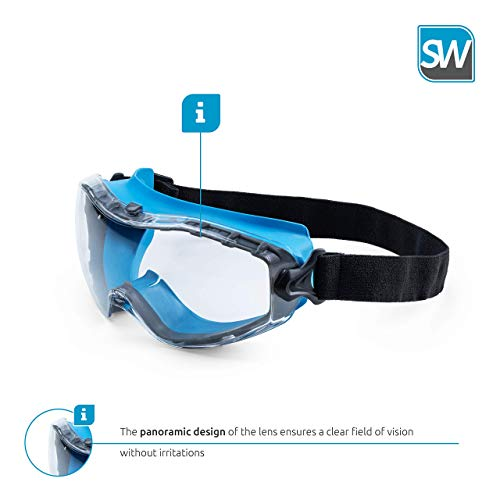 SolidWork Safety Goggles with universal fit, Safety Glasses with coated lenses
