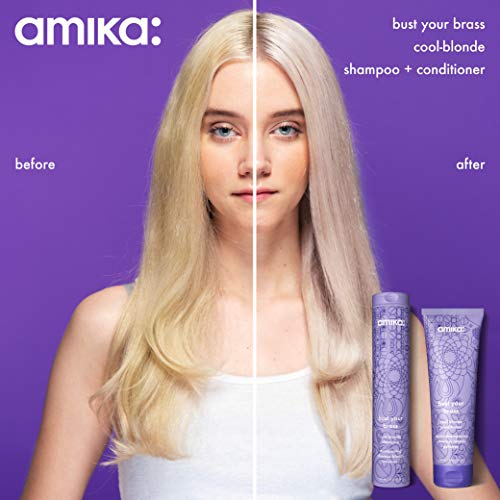 Amika Bust Your Brass Cool Blonde Shampoo, 2.03 Fl Oz