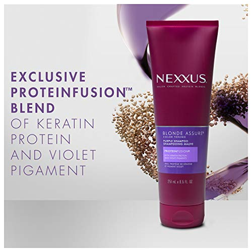 Nexxus Blonde Assure Purple Shampoo, Color Care Shampoo, For Blonde Hair Keratin Protein 8.5 oz