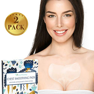 Blumbody Chest Wrinkle Pads - Decollete Anti Cleavage Wrinkles Silicone Pad Set of 2 Reusable Patches for Skin Lines Prevention - Overnight Wrinkle Remover Treatment while Sleeping
